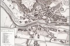 Plano de Burgos a comienzos del siglo XX (Colecc. Carlos Sainz Varona)