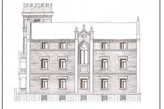Palacio de la Isla. Fachada Este y capilla. (AMB., ad-609/5)